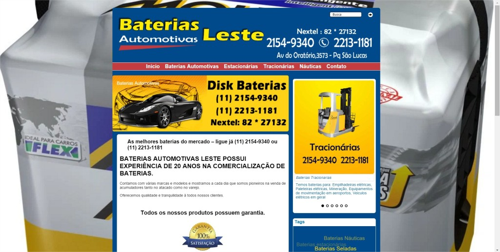 Baterias Automotivas Leste - Google Chrome